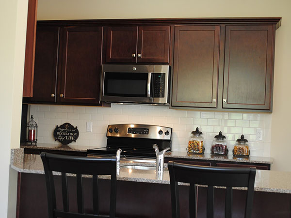 Kitchen at StoneBrook Townhomes and Cottages