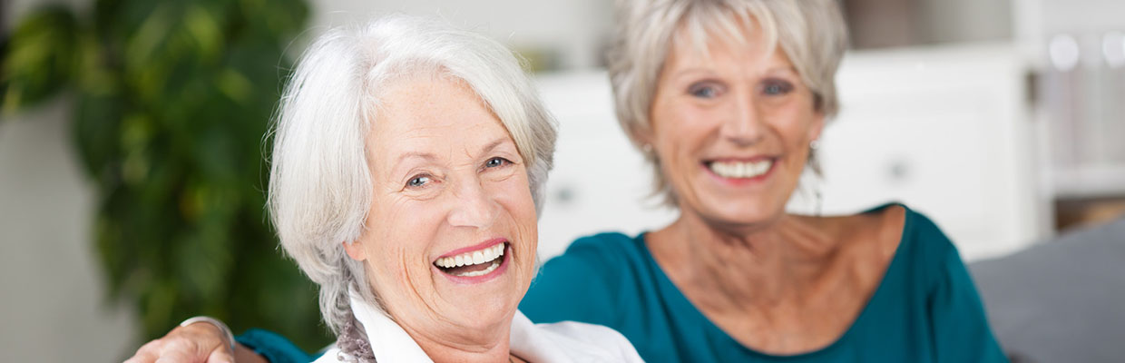 Happy Senior Women at StoneBrook Townhomes and Cottages